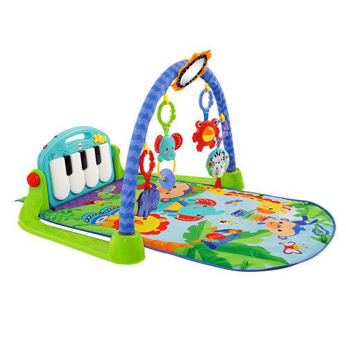 『121婦嬰用品館』費雪 可愛動物小鋼琴健身器