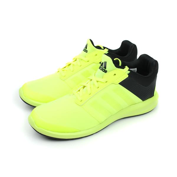 adidas S-flex 慢跑鞋 螢光綠 童 no133