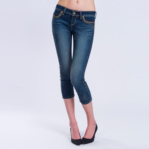 【ET BOiTE 箱子】配皮8分牛仔褲