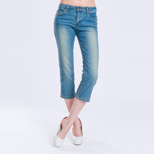 【ET BOiTE 箱子】低腰細直七分牛仔褲