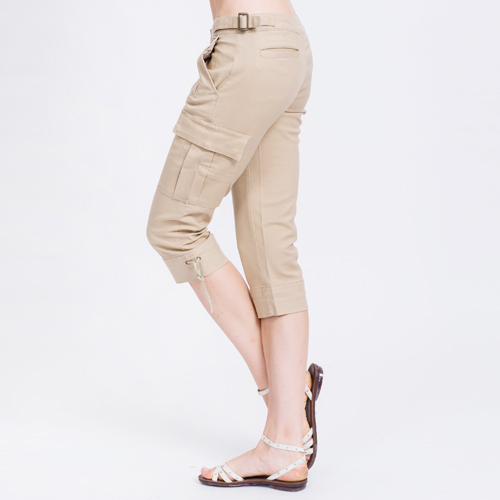 【ET BOiTE 箱子】 貼袋褲口綁繩七分牛仔褲
