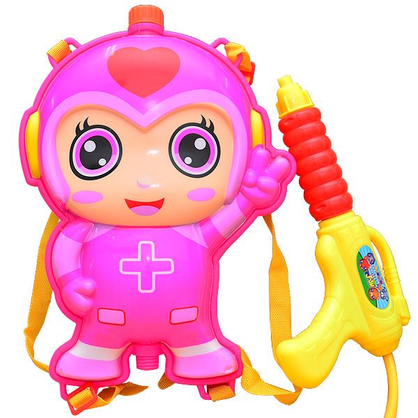 【戲水趣】背包水槍-粉紅小超人