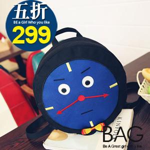 ★全店滿$598免運★B.A.G*現+預*【BT-TR】童趣撞色火車頭雙肩小後背包
