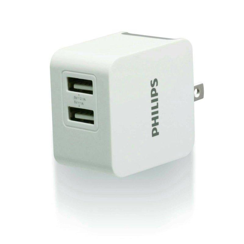 【迪特軍3C】PHILIPS 飛利浦 3.1A 大輸出USB高效能充電器 DLP3012