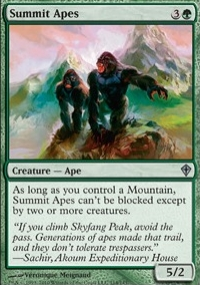 【Playwoods】 MTG 魔法風雲會 WWK No. 114 Summit Apes 山峰猿猴 UC卡(白卡非普綠生物)