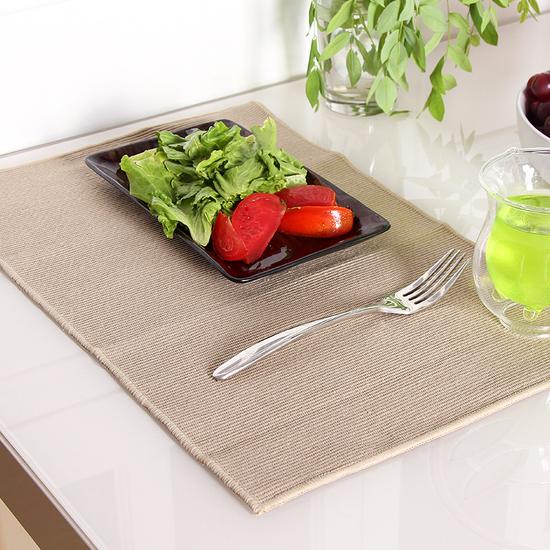 ♚MY COLOR♚純棉無印布藝餐墊 餐桌 西餐 防滑 隔熱 易清洗 廚房 用餐 風格 居家 裝飾 【K134】