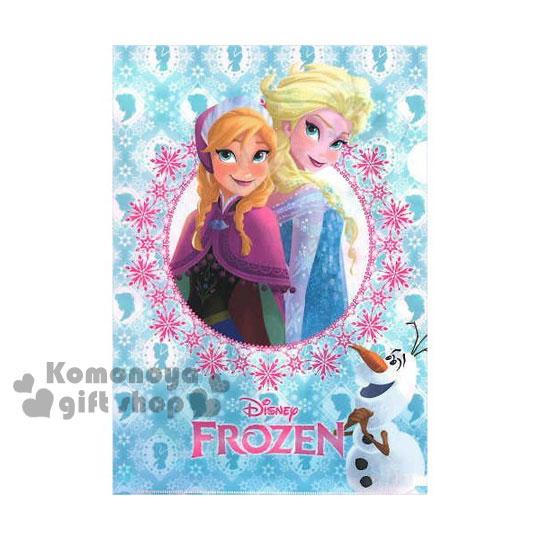〔小禮堂〕冰雪奇緣 日製L型文件夾《A4.藍.姐妹倆.雪寶》增添學習樂趣