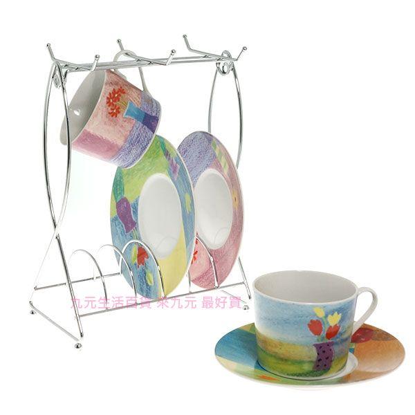 【九元生活百貨】雙魚咖啡杯架 馬克杯架 金屬杯架 餐盤架