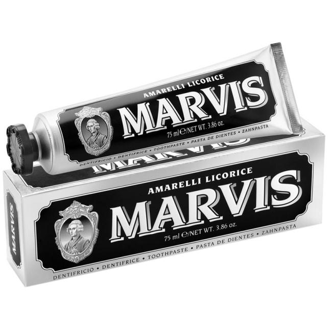 義大利 MARVIS 牙膏 75ml 黑-甘草薄荷 *夏日微風*