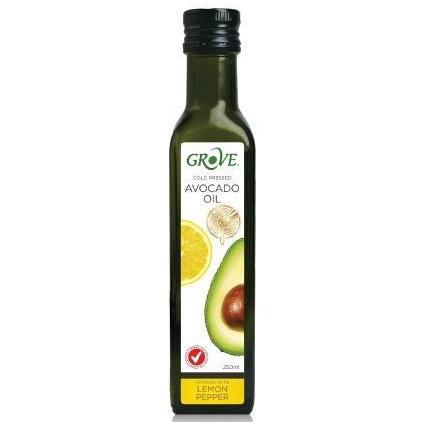 健康族-GROVE 冷壓初榨酪梨油 250ml (檸檬椒鹽風味)