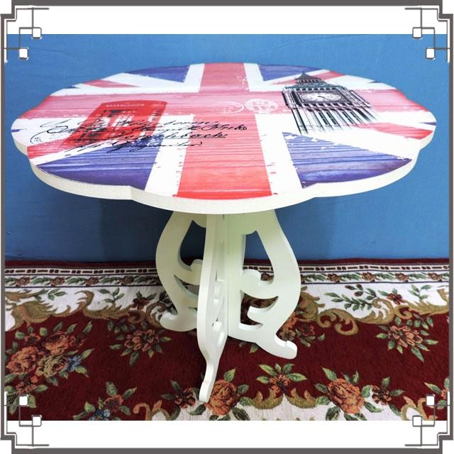 木製小桌子《WT-2英倫風》花朵造型小茶几 小邊桌 小電話桌 床邊桌 居家布置◤彩虹森林◥