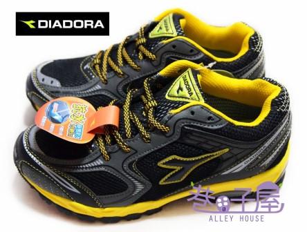【巷子屋】義大利國寶鞋-DIADORA迪亞多納 男大童抗水運動越野跑鞋 [9380] 黑黃 超值價$498