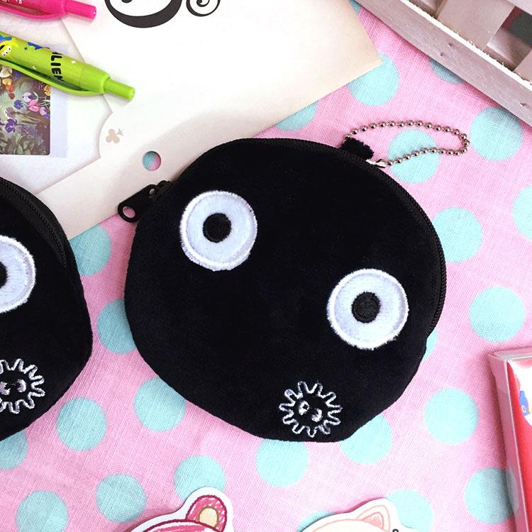 PGS7 日本卡通系列商品 - 小煤炭 零錢包 Totoro 吉卜力 宮崎駿 收納包 小灰塵 龍貓