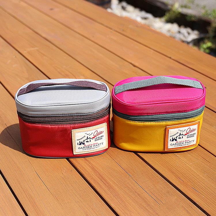 日本GARDEN PARTY-日式保溫杯+便當盒+便當袋組-兩色