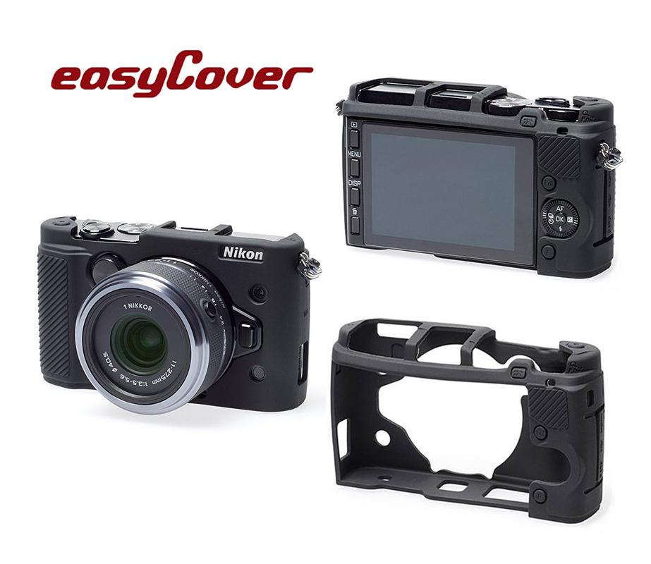 ◎相機專家◎ easyCover 金鐘套 Nikon 1 V3 機身適用 果凍 矽膠 保護套 防塵套 公司貨