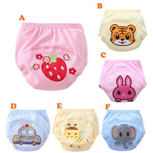 嬰兒尿布褲學習褲 卡通圖案學習訓練褲