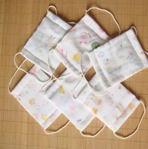 嬰兒小童口罩 印花純紗布口罩