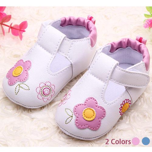 學步鞋 男女童寶寶花朵學步鞋