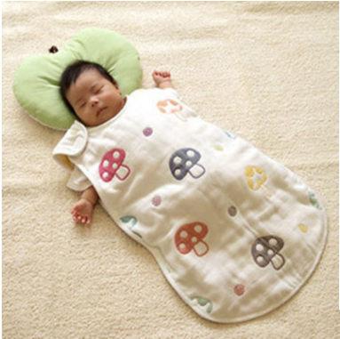 童睡袋 棉紗六層童蘑菇睡袋