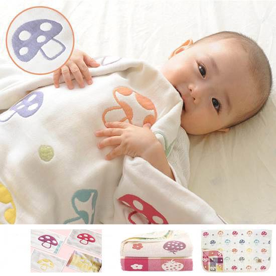 童空調棉被 寶寶純棉紗布浴巾被