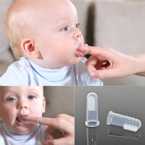 指套牙刷 嬰幼兒柔軟透明矽膠牙刷