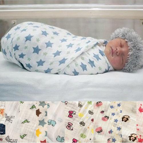 嬰兒包巾 全棉紗布浴巾包巾襁褓蓋毯