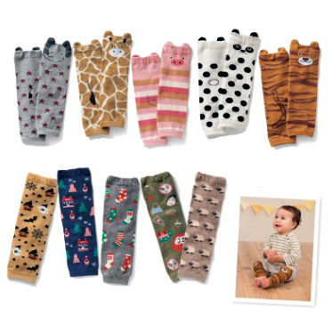 嬰兒護膝套 兒童動物節日款防摔襪(E)
