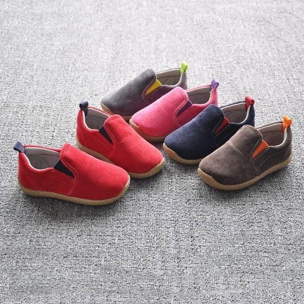 童鞋帆布鞋 秋冬款加厚牛筋底防滑學步鞋