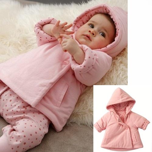 嬰兒外套  超保暖輕柔斜扣棉外套