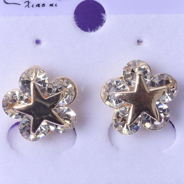 R120 傑克鑽 耳環 簡單時尚 璀璨 鑲 鑽 大方 簡約 耳環 一對 50元 超便宜