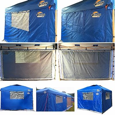 【露營趣】中和 速可搭 客廳帳專用雙層圍布組 邊布 邊圍布(內層紗網)防蚊防蟲防風