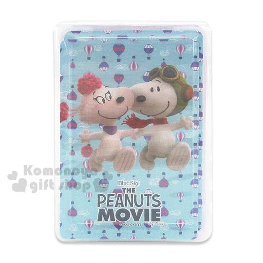 〔小禮堂〕史努比 撲克牌《淺藍.女朋友.熱氣球滿版.盒裝》Peanuts電影系列