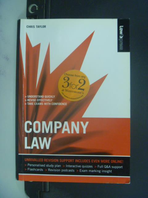 【書寶二手書T5/法律_GGA】Company Law_Chris Taylor