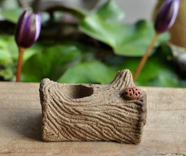 超可愛陶樹幹《一洞》《小湯圓貓頭鷹與迷你蘑菇的家》★台灣設計純手工捏製★手作陶製品