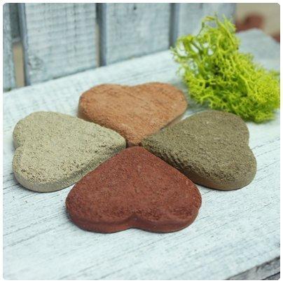 超可愛陶製愛心造型餅乾磚(小)★台灣設計純手工捏製★手作陶製品