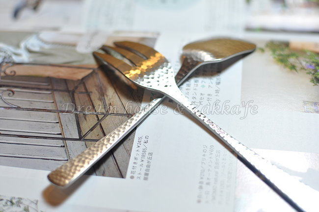 日本 和味 槌目 不鏽鋼 布丁湯匙/甜點湯匙/叉子《18-8霧面不鏽鋼 》《2款任選 》 ★ 日本製 ★ Zakka'fe