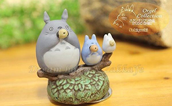 日本宮崎駿 Totoro 龍貓 陶瓷音樂鈴/音樂盒  龍貓陶笛樂隊《 日本原裝進口 》Zakka'fe