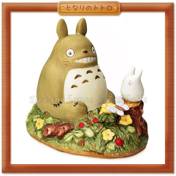 日本宮崎駿 Totoro 龍貓 陶瓷音樂鈴/音樂盒 龍貓與小白 《 日本原裝進口 》Zakka'fe