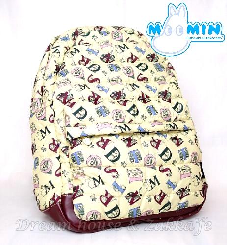 日本 MOOMIN 嚕嚕米 字母泡泡 後背包/背包/行李袋《 泡泡袋設計 保護效果更好 更輕巧 》★ Zakka'fe ★