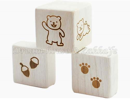 日本進口 原木 手搖鈴積木玩具 《 安全有保障的幼兒/兒童玩具 》★ 桐木製 ★ Zakka'fe
