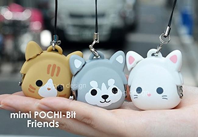 日本進口 貓咪/小貓 造型 矽膠果凍 迷你吊飾零錢包/小物包/貝殼包 《可吊在手機上喔》《5款任選》★ Zakka'fe ★