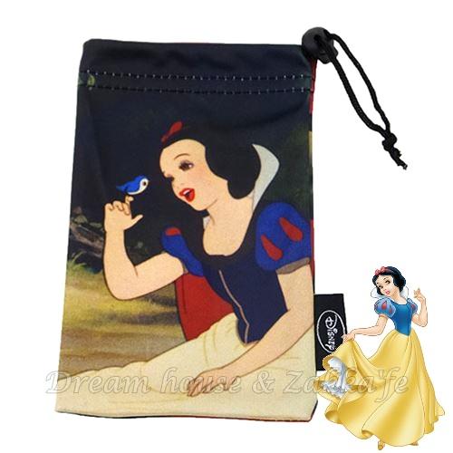 日本正版 Disney 迪士尼 白雪公主 多功能 小物袋/手機袋/萬用袋/束口袋 《 輕薄好用喔 》★ Zakka'fe ★