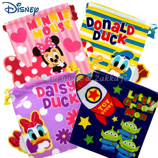 日本 Disney 迪士尼人物 束口袋/小物袋 《 4款任選 》 ★ 當化妝包/雜物包/裝衛生棉/寶貝外出奶嘴零食 都適合喔 ★ Zakka'fe