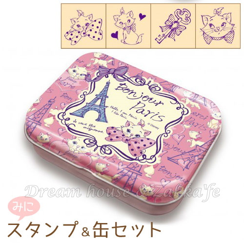 日本進口 DISNEY 迪士尼 瑪麗貓 印章組 附收納鐵盒 《 日本製 》★ Zakka'fe ★
