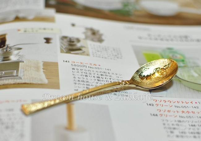 日本玫瑰雕花霧面不鏽鋼金色小湯匙《可當調味料勺》★日本製★