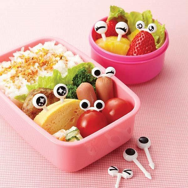 日本原裝進口可愛便當叉 眼睛 10支入 《 TORUNE 》★ 寶貝吃飯的好夥伴 ★