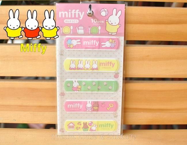 日本 miffy 米非兔 OK絆/OK蹦 《10枚 5款x2 》★超可愛★ 日本製 Zakka'fe
