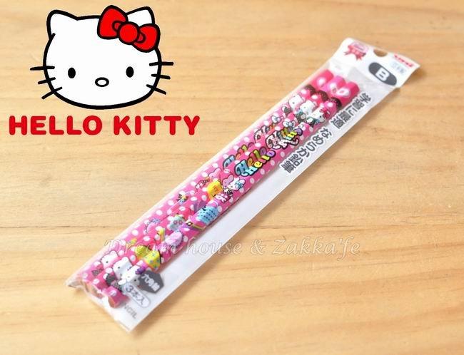 日本限定 Sanrio 三麗鷗 Hello KITTY 鉛筆 六角軸 B《 日本uni 》《 3入/組 》 ★ 日本製 原裝進口 ★