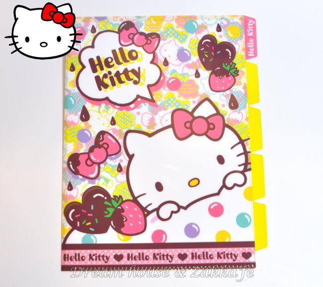 日本限定 正版三麗鷗 Sanrio Hello Kitty 五層 L型 資料夾/檔案夾/文件夾 ★ 日本製 ★