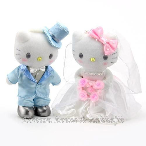 日本 Sanrio 三麗鷗 Hello KITTY 婚禮玩偶/絨毛娃娃 禮盒《 婚禮小物/結婚禮物 都適合喔 》★ Zakka'fe ★